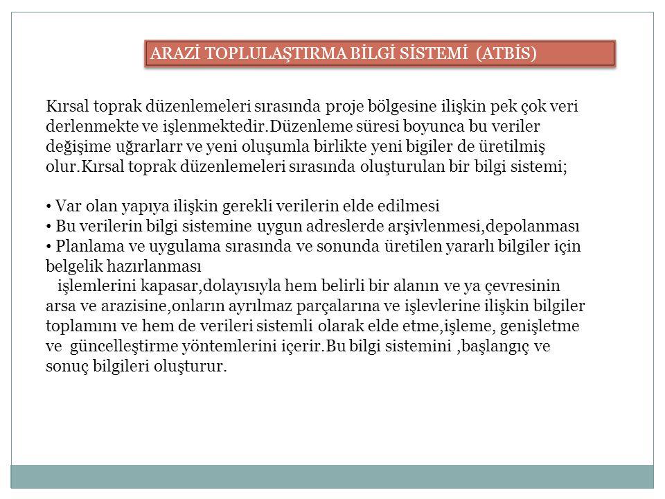 ARAZİ TOPLULAŞTIRMA BİLGİ SİSTEMİ (ATBİS)