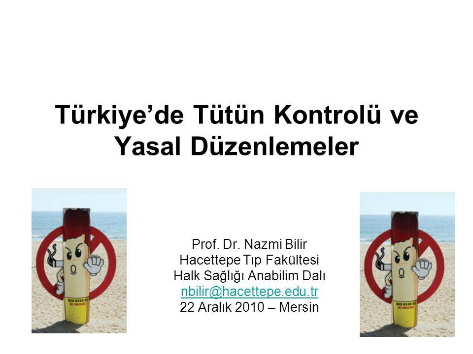 Türkiye'de Tütün Kontrolü ve Yasal Düzenlemeler