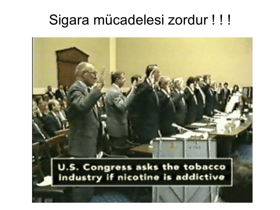 Sigara mücadelesi zordur ! ! !
