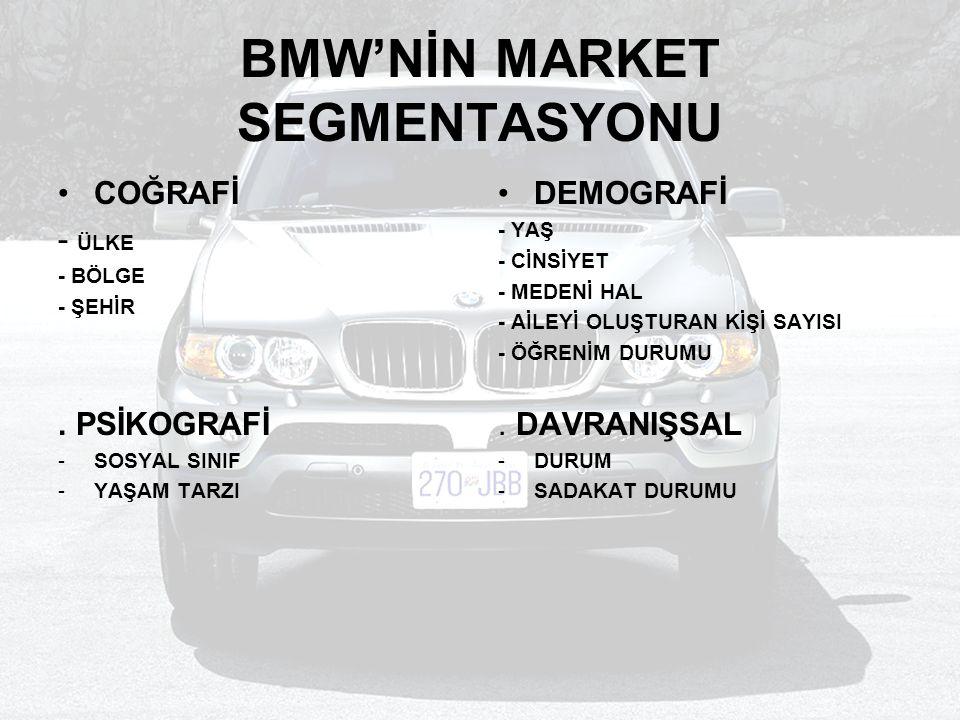 BMW'NİN MARKET SEGMENTASYONU