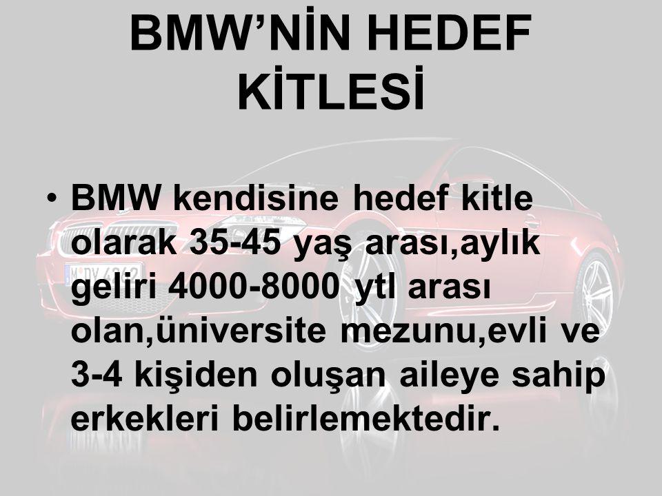 BMW'NİN HEDEF KİTLESİ