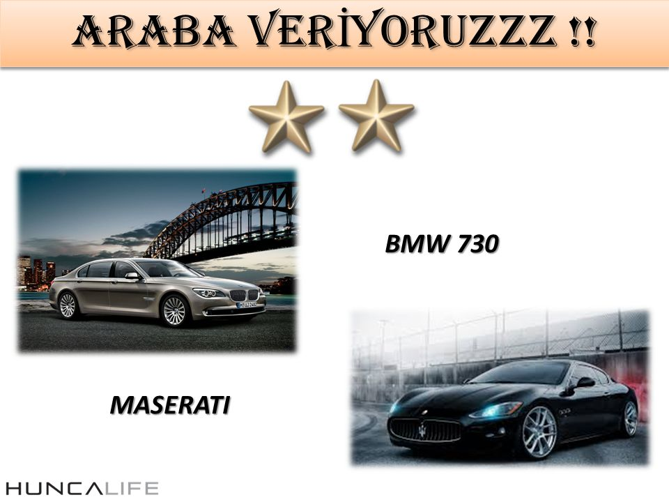 ARABA VERİYORUZZZ !! BMW 730 MASERATI