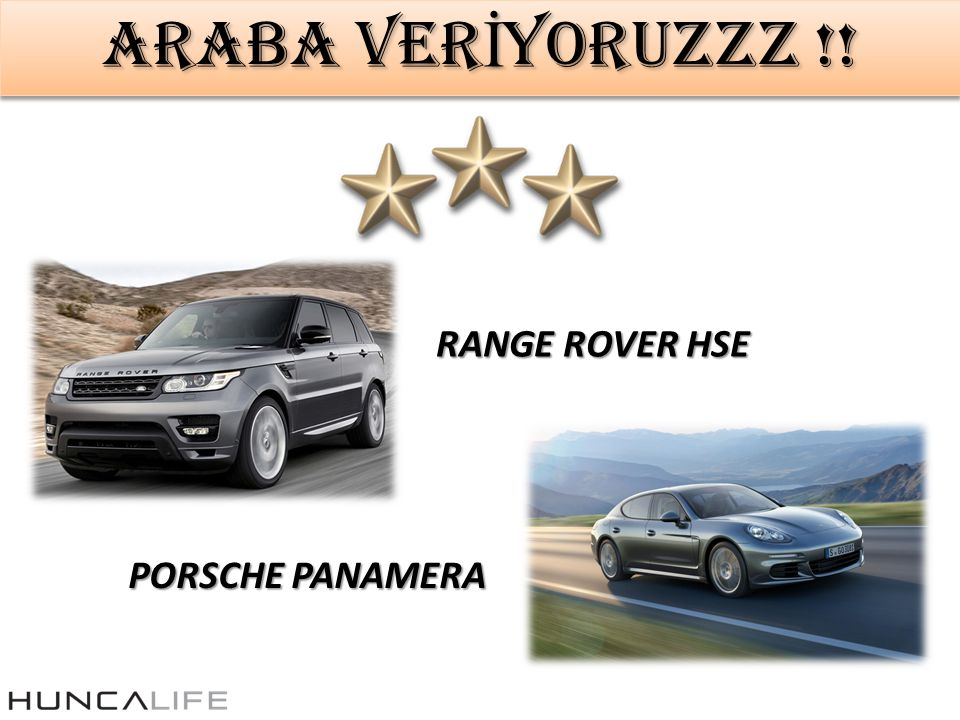 ARABA VERİYORUZZZ !! RANGE ROVER HSE PORSCHE PANAMERA