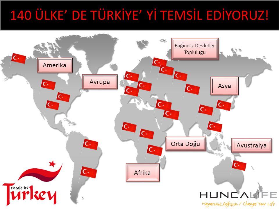 140 ÜLKE' DE TÜRKİYE' Yİ TEMSİL EDİYORUZ!