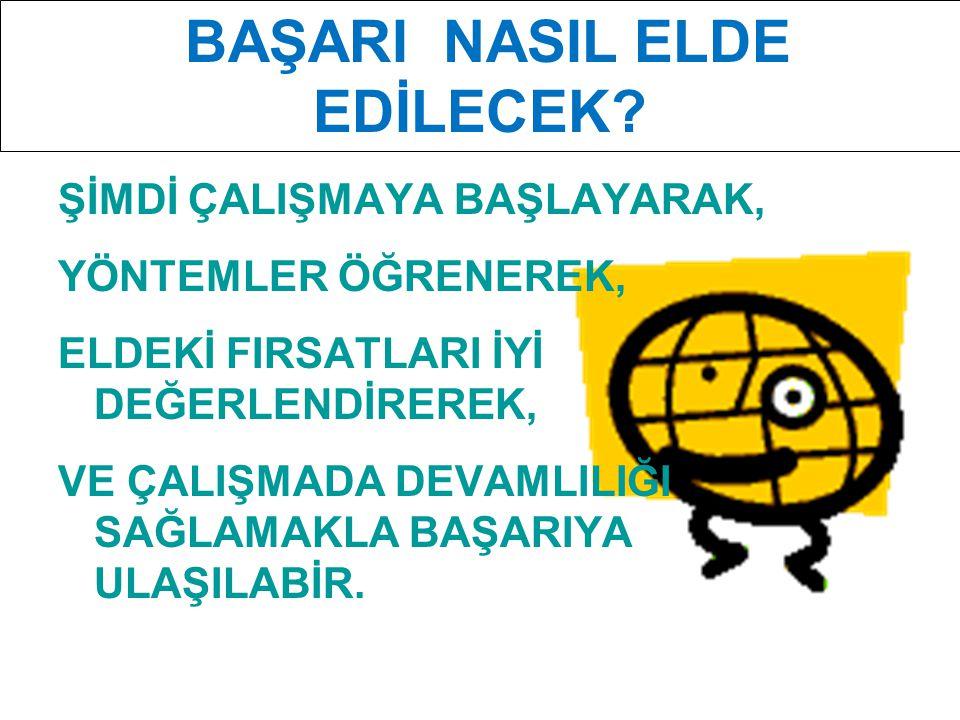 BAŞARI NASIL ELDE EDİLECEK
