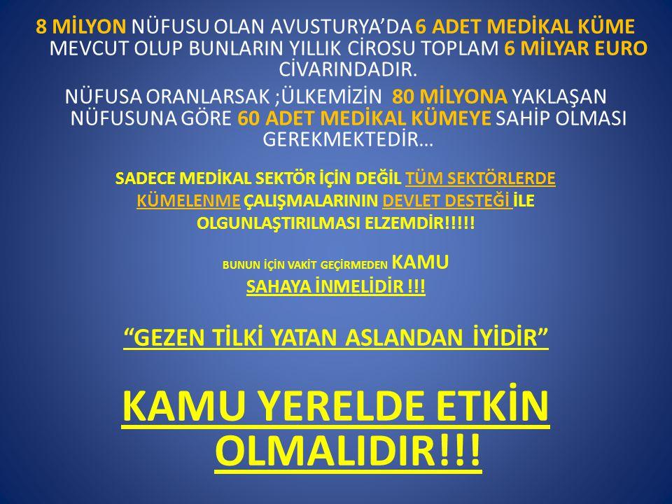 KAMU YERELDE ETKİN OLMALIDIR!!!
