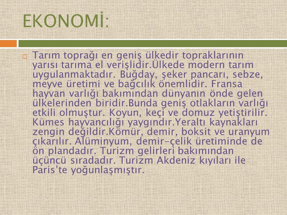 EKONOMİ: