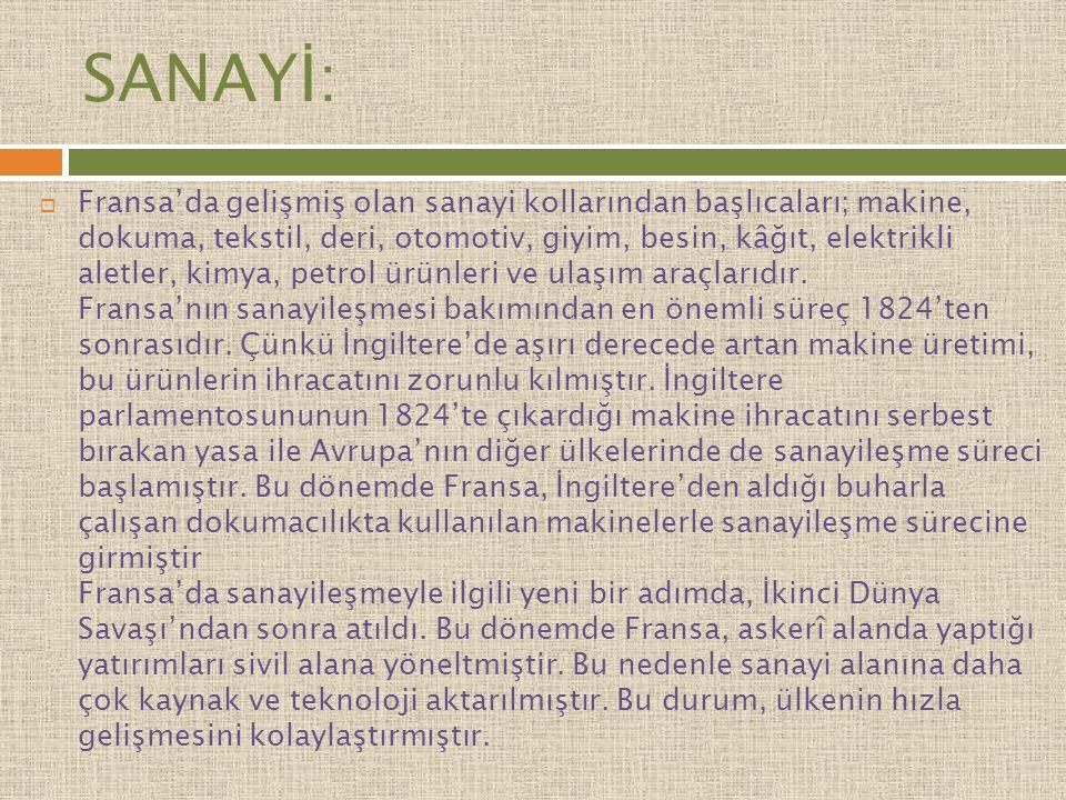 SANAYİ: