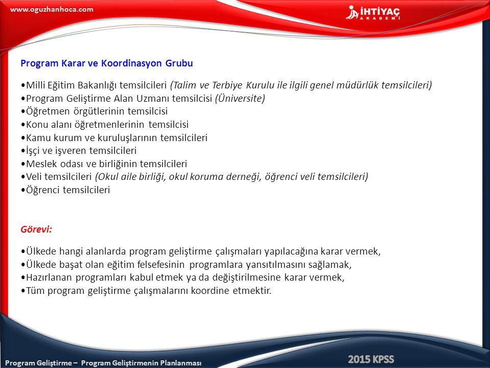 Program Karar ve Koordinasyon Grubu