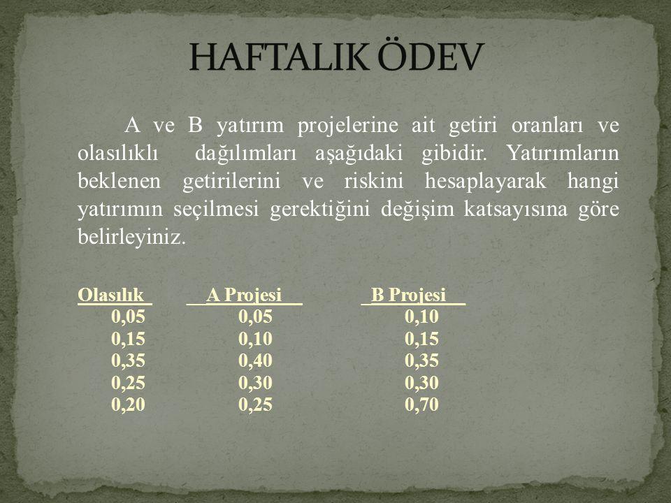HAFTALIK ÖDEV
