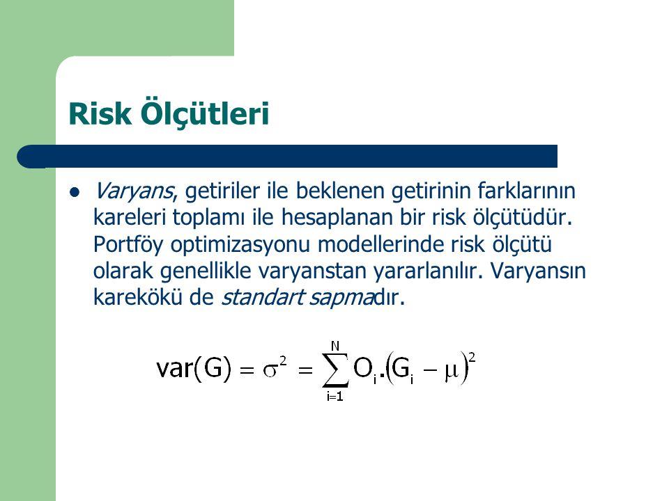 Risk Ölçütleri