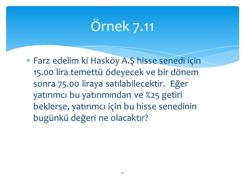 Örnek 7.11