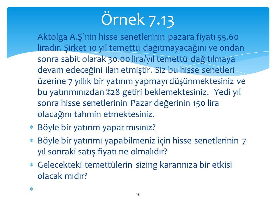Örnek 7.13