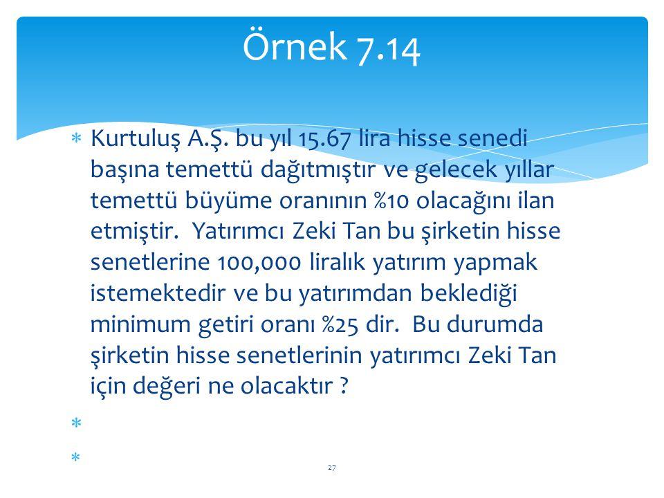 Örnek 7.14