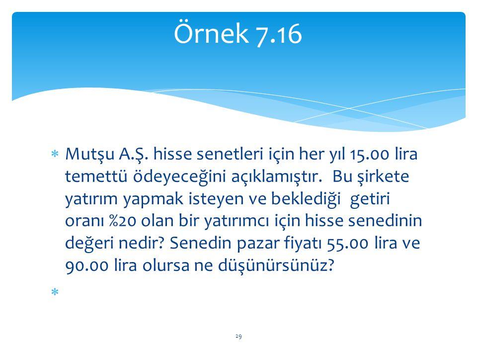 Örnek 7.16