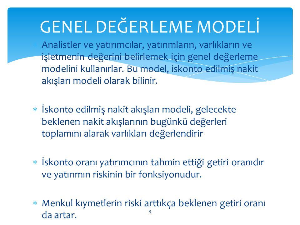 GENEL DEĞERLEME MODELİ