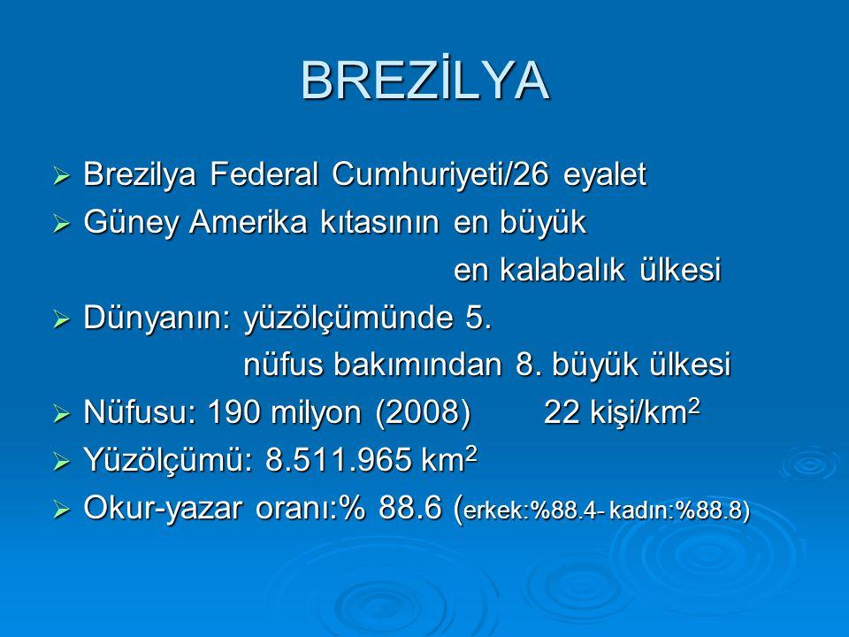 BREZİLYA Brezilya Federal Cumhuriyeti/26 eyalet