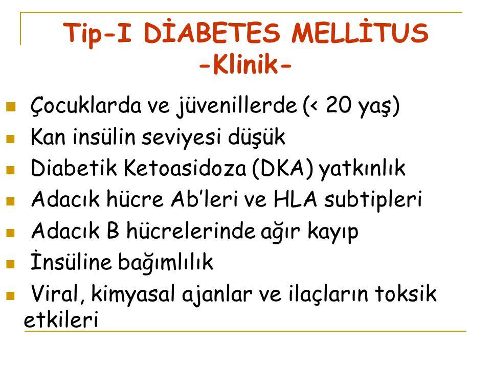 Tip-I DİABETES MELLİTUS -Klinik-