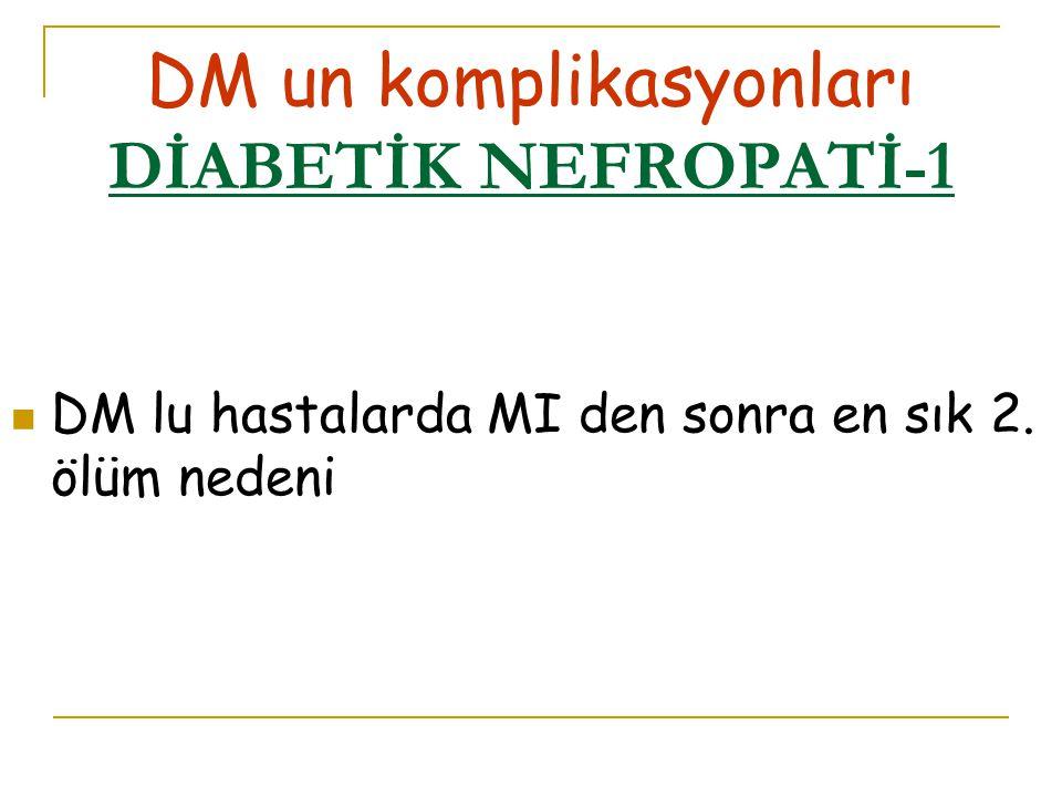 DM un komplikasyonları DİABETİK NEFROPATİ-1