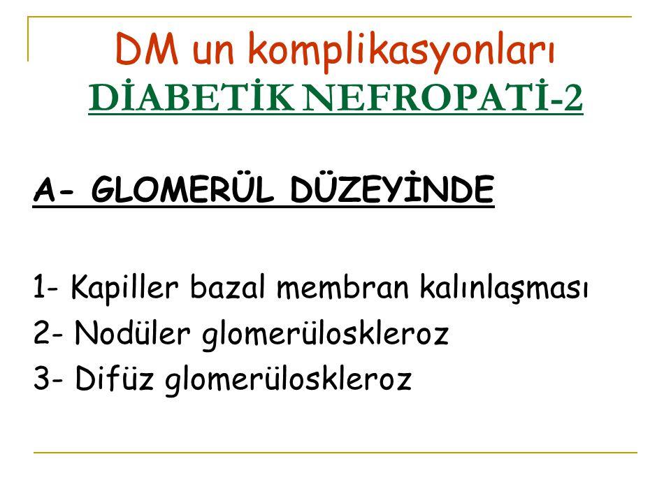 DM un komplikasyonları DİABETİK NEFROPATİ-2