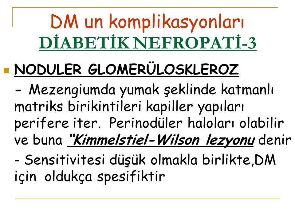 DM un komplikasyonları DİABETİK NEFROPATİ-3