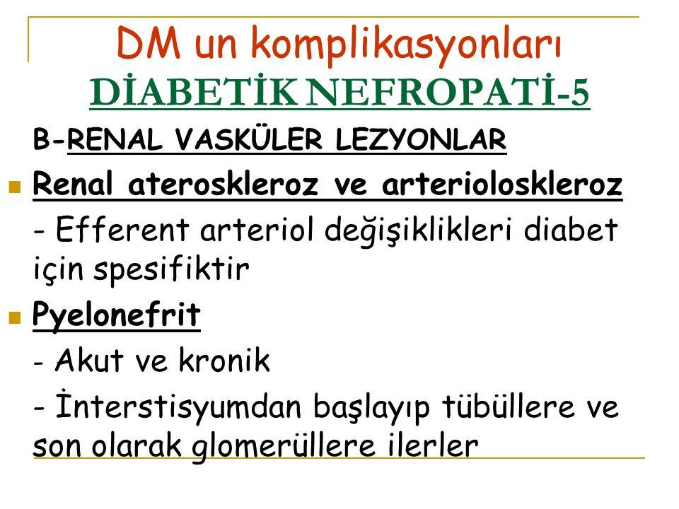DM un komplikasyonları DİABETİK NEFROPATİ-5
