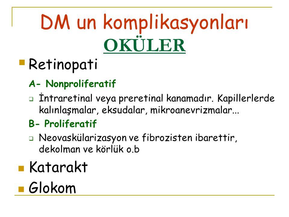 DM un komplikasyonları OKÜLER