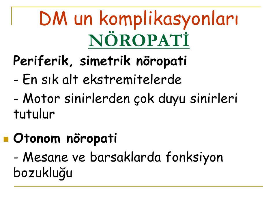 DM un komplikasyonları NÖROPATİ