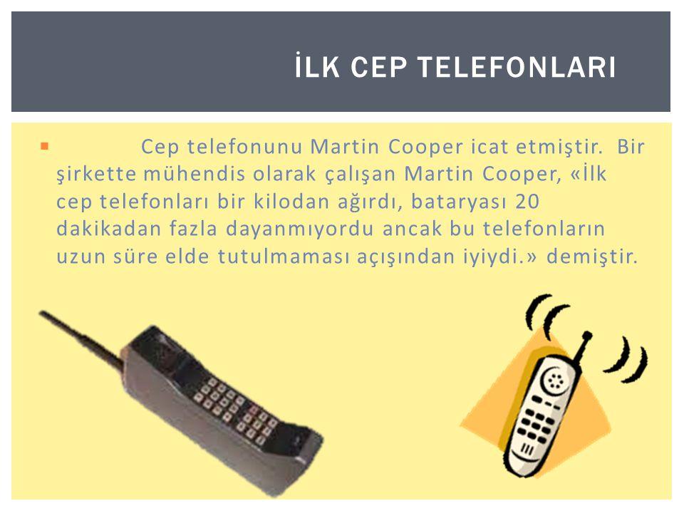 İlk cep telefonlarI