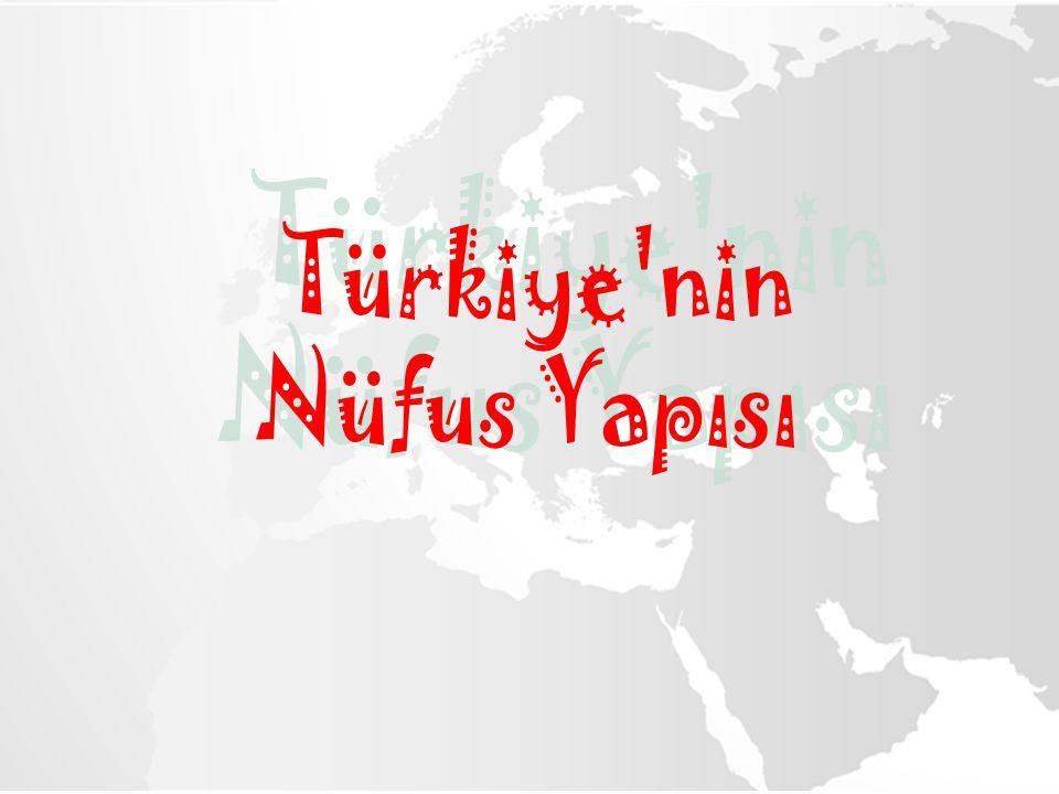 Türkiye nin Nüfus Yapısı