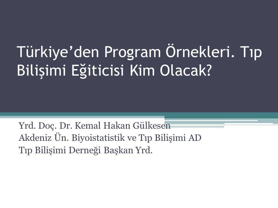 Türkiye'den Program Örnekleri. Tıp Bilişimi Eğiticisi Kim Olacak