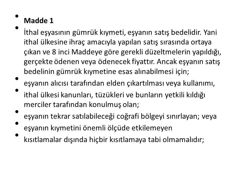 Madde 1