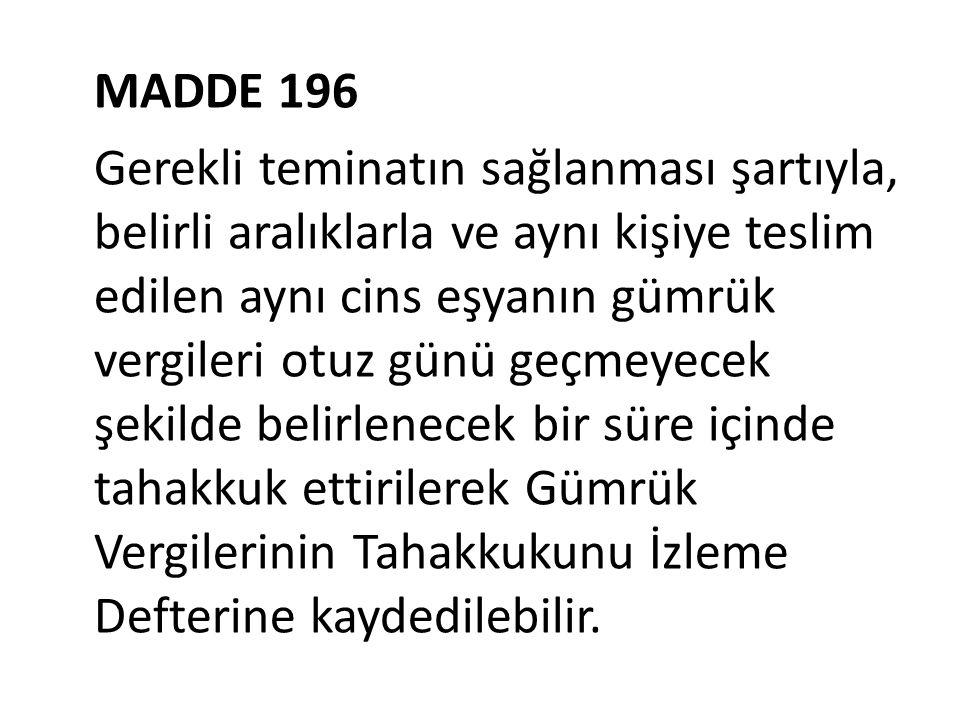 MADDE 196