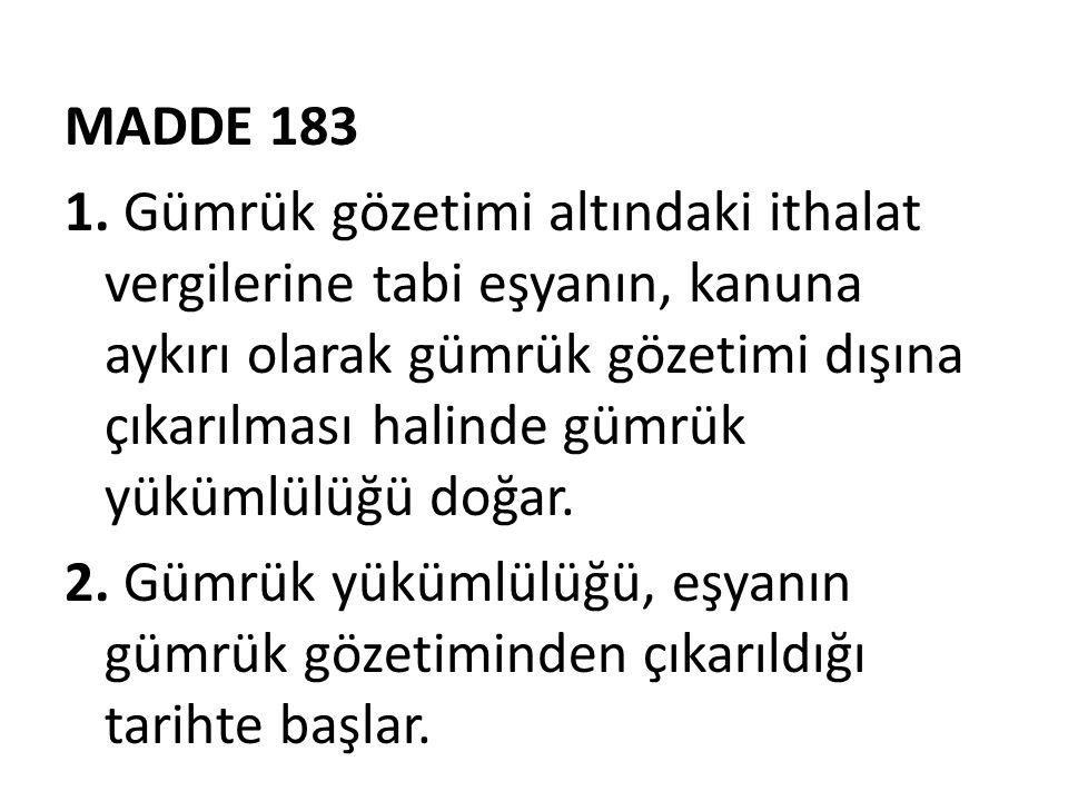 MADDE 183 1.
