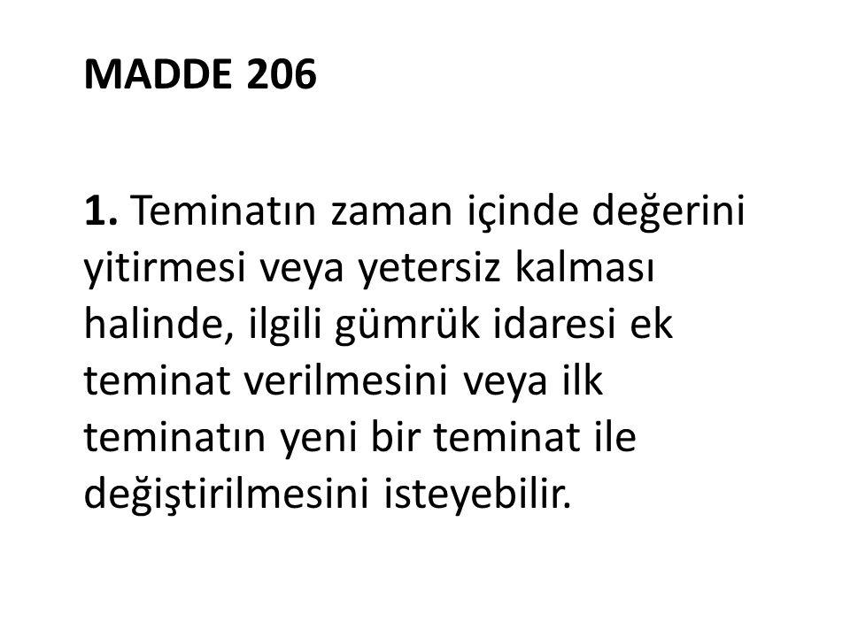 MADDE 206 1.