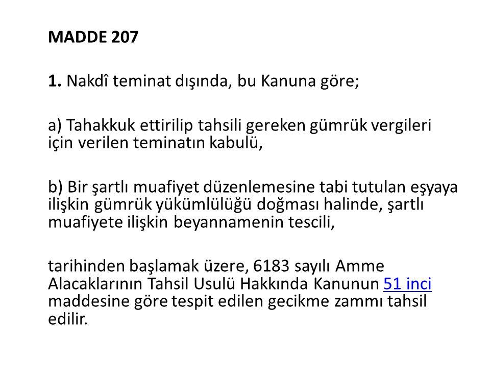 MADDE 207 1.