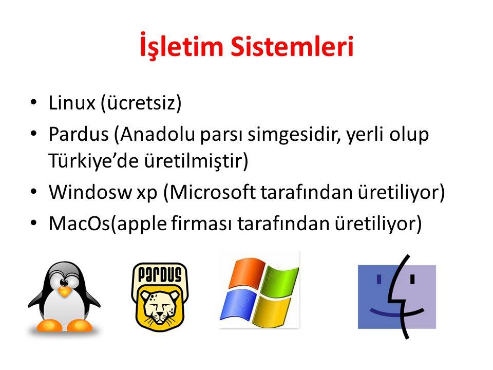 İşletim Sistemleri Linux (ücretsiz)