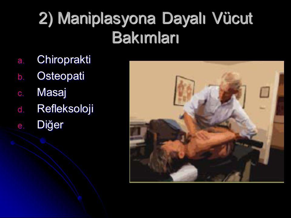 2) Maniplasyona Dayalı Vücut Bakımları