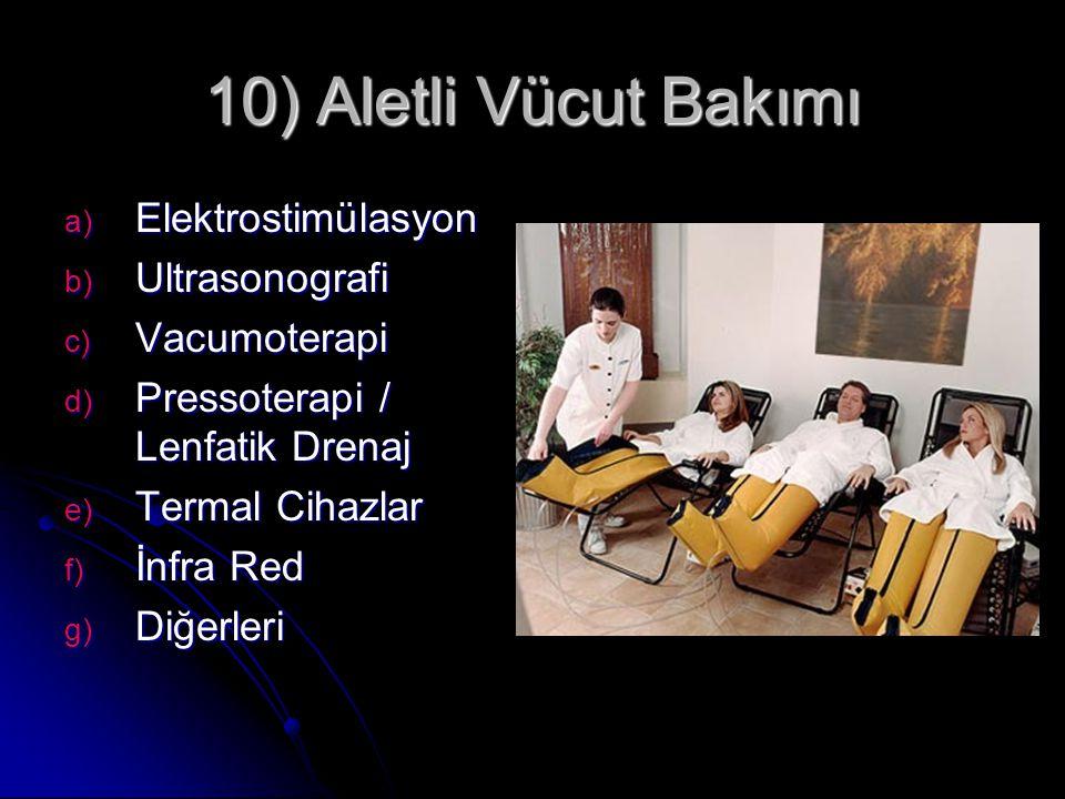 10) Aletli Vücut Bakımı Elektrostimülasyon Ultrasonografi Vacumoterapi