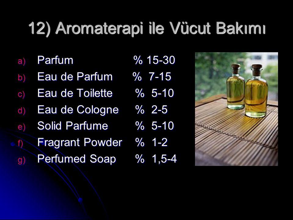 12) Aromaterapi ile Vücut Bakımı