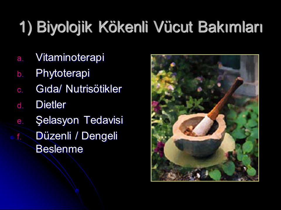1) Biyolojik Kökenli Vücut Bakımları