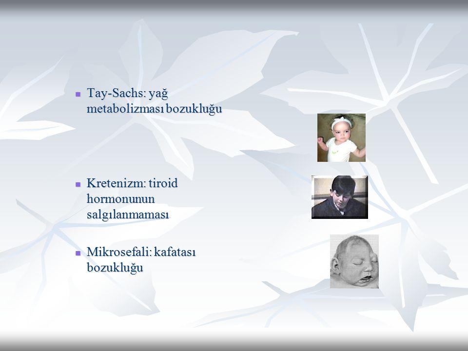 Tay-Sachs: yağ metabolizması bozukluğu