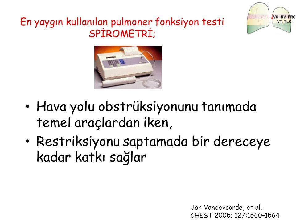 En yaygın kullanılan pulmoner fonksiyon testi SPİROMETRİ;
