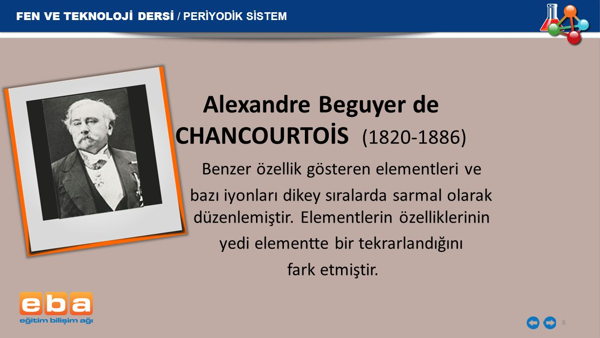 Alexandre Beguyer de CHANCOURTOİS (1820-1886)