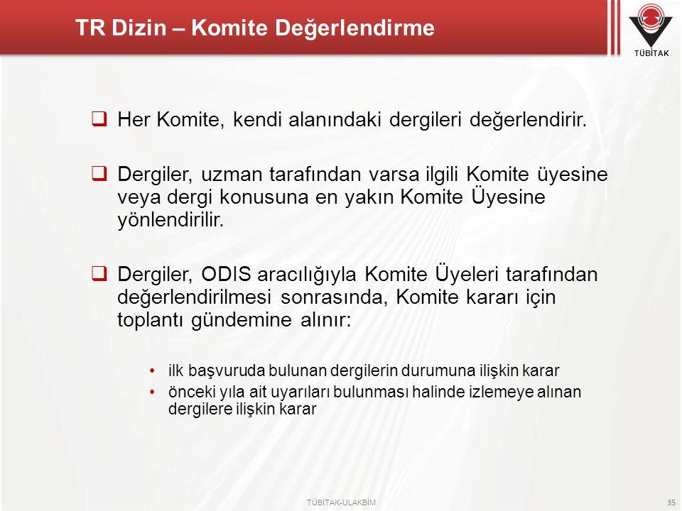 TR Dizin – Komite Değerlendirme