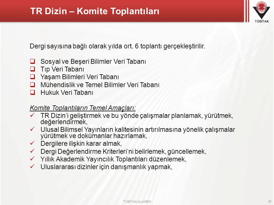 TR Dizin – Komite Toplantıları