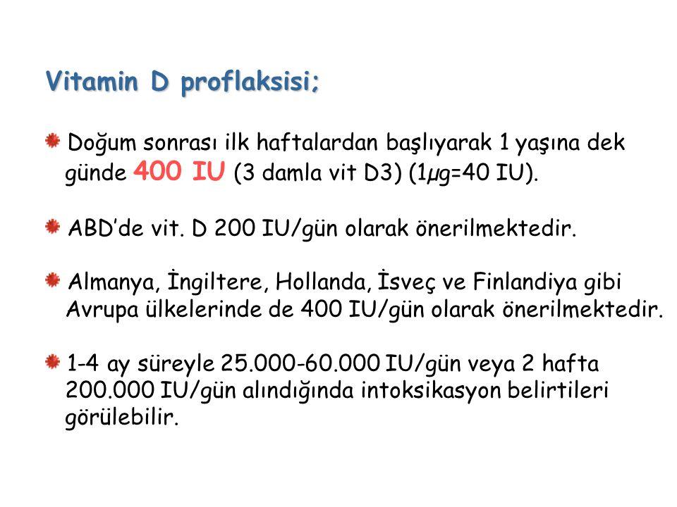 Vitamin D proflaksisi;
