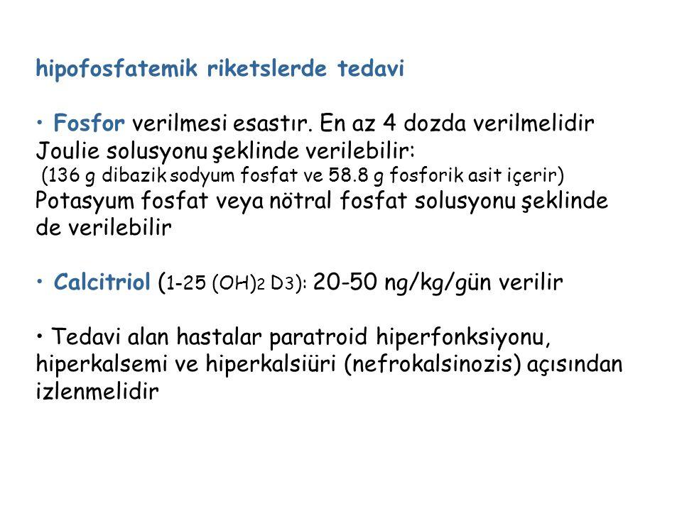 hipofosfatemik riketslerde tedavi