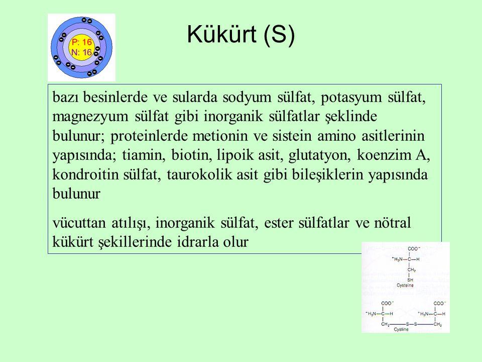 Kükürt (S)