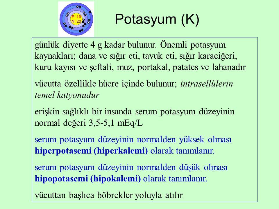Potasyum (K)